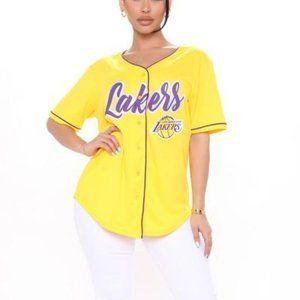 Fashion Nova Women's NBA Biggest Fan Lakers Jersey
